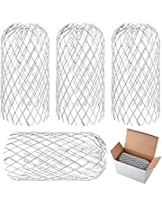 4 Pack Aluminum Gutter Guards, Expandable Leaf Filter Gutter Guards, Outdoor Drain Cover, Screen Filter Strainer Protection Net for Gutter, Downpipe