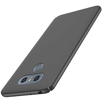 Anccer Funda LG G6 [Serie Colorida] [Ultra-Delgado] [Ligera] Anti-rasguños Estuche para Carcasa LG G6 (Negro liso)