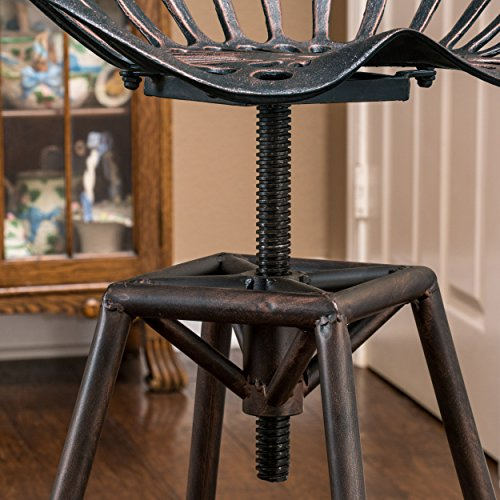 Tremendous Great Deal Furniture Charlie Industrial Metal Design Tractor Seat Bar Stool Black Brushed Copper Creativecarmelina Interior Chair Design Creativecarmelinacom