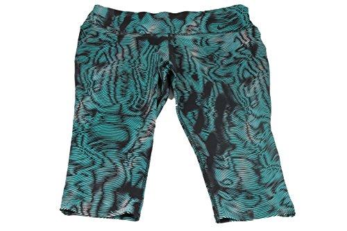 Nike Womens Legendary Waves Tight Training Capris Turquoise/Black (XL, Turquoise/Black)