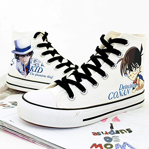 sur fermée Cosplay Chaussures Jimmy Coque Sneakers Chaussures Kudo Conan Detective toile Anime pqBvYw