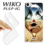J289 Wiko Pulp 4 G Case Beach Girl TPU Spoon Reflection Case