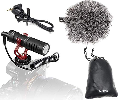 Movo VXR10 Universal Video Microphone with Shock Mount