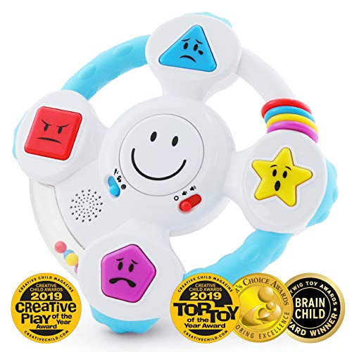 BEST LEARNING My Spin & Learn Steering Wheel - Interactive Educational Light-Up Toddler Toys for 6 to 36 Months Old Infants and Toddlers