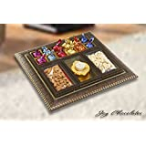 Diwali Gift Box - Dry Fruits Tray with Finest Belgian ChocolatesTruffles