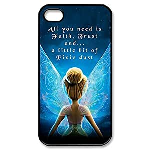 Tinkerbell Quotes Fairies Image Protective Iphone 5s / Iphone 5 Case Cover Hard Plastic Case for Iphone 5 5s