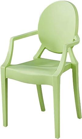 LXQGR Sillas de jardín de plástico, mostrador de Cocina Salón de Oficina Sillas de Sala de Estar Sillón para Silla de baño con Respaldo y reposabrazos (Color : Green): Amazon.es: Hogar
