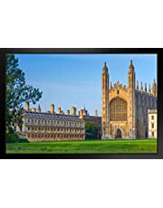 Kings College University of Cambridge England Photo Art Print Black Wood Framed Poster 20x14