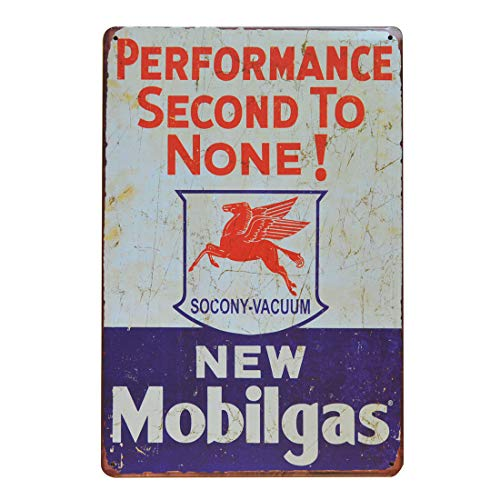 Mobilgas Pegasus Retro Vintage Tin Metal Sign, Wall Decor for Home Garage Bar Man Cave, 8x12 inch/20x30cm