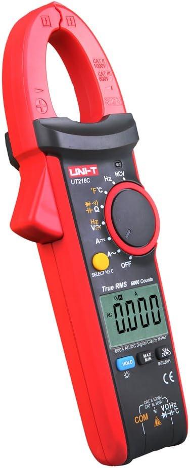 Uni T Ut216c 600a True Rms Zangenmultimeter Auto Range Frequenz Baumarkt