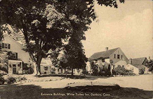 Entrance Building at White Turkey Inn Danbury, Connecticut Original Vintage Postcard