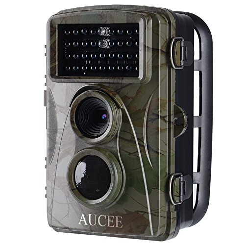 "AUCEE Trail Camera, 12MP 1080P HD Wildlife Camera Deer Camera Motion Activated Night Vision, Hunting Camera Game Camera with 34 Low Glow IR LEDs and 2.4"" LCD Screen, IP56 Waterproof Scouting Camera"