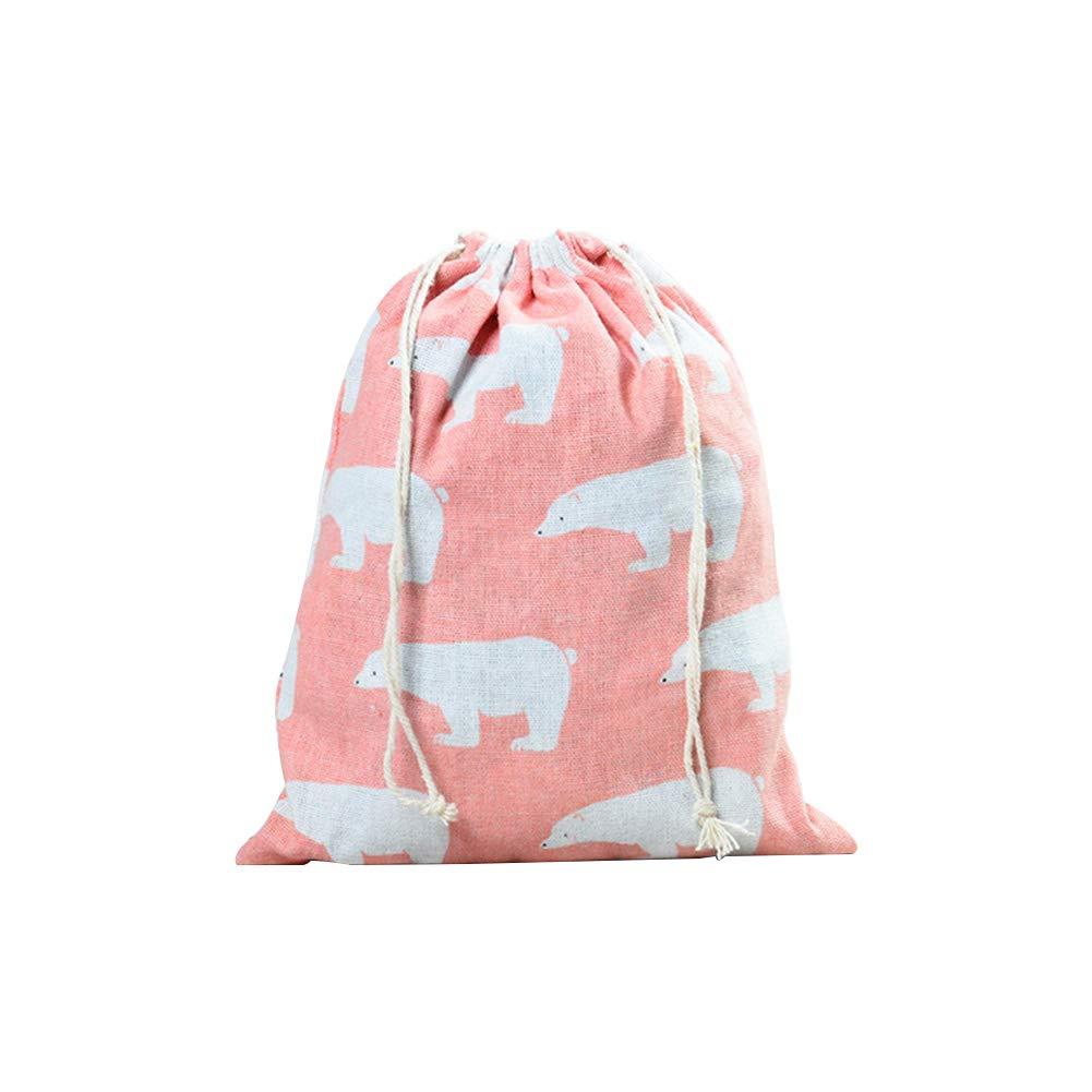 Fablcrew 巾着袋 コットンバッグ 収納 コットンとリネンポーチ サンドライ/布用 M FDFS460 Medium  B07H147ZK7