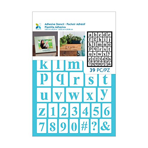 Momenta 26726 Alphabets and Numbers Adhesive Stencil - Vinyl Template