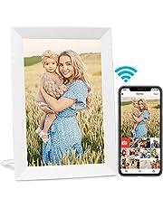 AEEZO WiFi Digitale Fotolijst 9 Inch IPS Touchscreen HD Display, Auto-Roteren, Gratis Onbeperkt Opslag Eenvoudige Setup om foto's en video's te delen, Muur Monteerbare Smart Cloud Digitale Fotolijst (Wit)