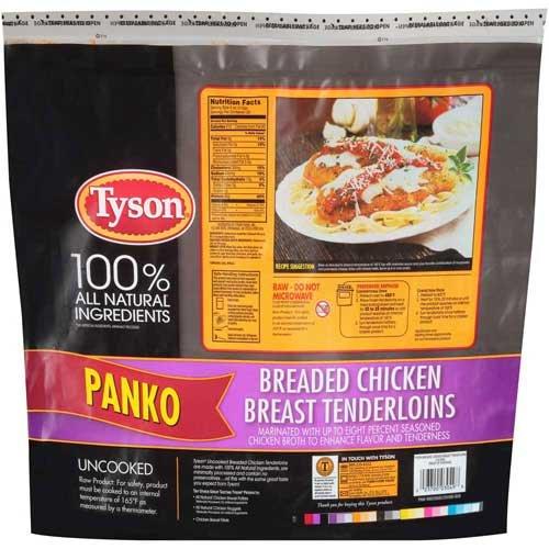 Tyson Uncooked Panko Breaded Chicken Breast Tenderloin  5 Pound    5 Per Case