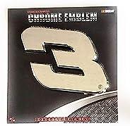 Dale Earnhardt Sr Senior #3 Premium Raised Silver Chrome Color Auto Emblem Decal Nascar Racing