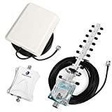 70dB 1700MHz Band 4 Mobile Repeater Cell Phone Signal Booster with Indoor Panel Antenna Outdoor Yagi Antenna Boost Data Text