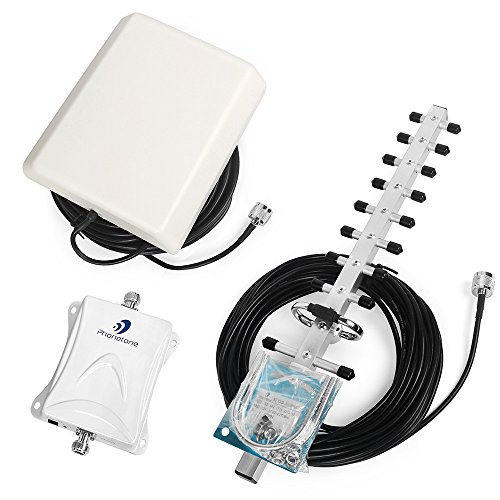 70dB 1700MHz Band 4 Mobile Repeater Cell Phone Signal Booster with Indoor Panel Antenna Outdoor Yagi Antenna Boost Data Text by ANYCALL