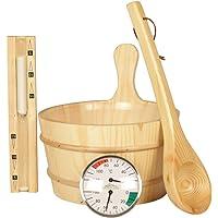 Unbekannt Juego de accesorios de 5piezas, sauna Clásico de sauna de madera natural