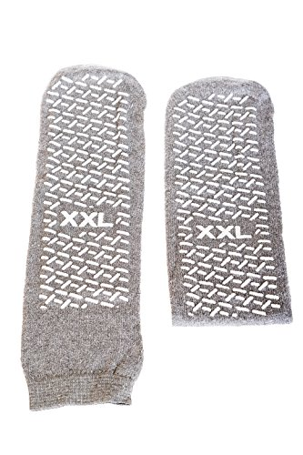 SPECIAL PACK OF 3-Slipper Socks; XXL Grey ()