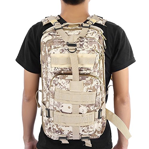 Camouflage bag 3P Military Tactical Backpack Hunting Assault Men Oxford Sport Bag 30L For Camping Hunting Hiking Trekking 8 by Camouflage bag