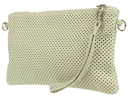 Bag Perforated Italian Girly Ivory Clutch Girly HandBags Leather HandBags Italian AAgYw8q