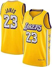 Men's Lakers Jersey # 23 Lebron James Basketball Uniforms, Yellow Young Urban Ver
