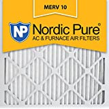 Nordic Pure 20x20x1 MERV 10 Pleated AC Furnace Air Filter,  Box of 12