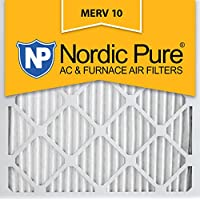 Nordic Pure 14x14x1 Pleated MERV 10 AC Furnace Filters Qty 2, 14x14x1M10-2, 2 Piece