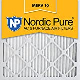 Nordic Pure 16x16x1 MERV 10 Pleated AC Furnace Air Filter, Box of 6