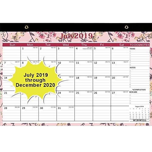 Doe Calendar 2020 18.Desk Calendar 2019 2020 Desk Calendar July 2019 2020 17 X 12 Teacher Monthly Desk Pad Calendar Academic Year 18 Month Large Size Ruled Blocks
