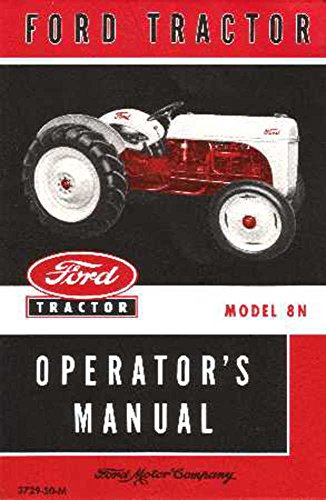 bishko automotive literature 1948 1949 1950 1951 1952 Ford 8N Tractor Owners Manual User Guide Operator Book