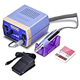 Bandyek Electric Nail Drill File Machine Manicure Pedicure Kit for Acrylic Nails Gel Nail Glazing Nail Drill Nail Art Polisher Sets with Sander Bands & 6 Bits Set (30000RPM) - BDY3000