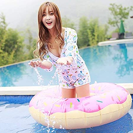 Color : As Shown, Size : One Size The Blue,XL Oudan Split Swimsuit Three-Piece Stamp Split Thin Cover Up Steel and Gathered Together