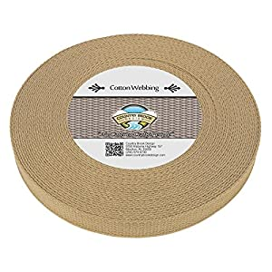 Country Brook Design | Camel Heavy Cotton Webbing with 17 Vibrant Color Options (1 Inch, 10 Yards)