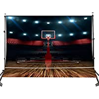 LYLYCTY High - end Basketball Court Background Indoor Photography Backdrop Sports Club Studio Photo Backdrop Props 5x7ft Room Mural Backdrop PB579