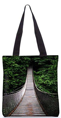 """Snoogg One-Way-Home-Einkaufstasche 13,5 X 15 In """"Einkaufstasche Dienstprogramm Trage Von Polyester Canvas"""