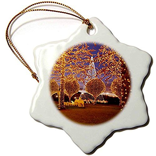 Bowen Rhodes Porcelain Snowflake Ornament, 3-Inch,