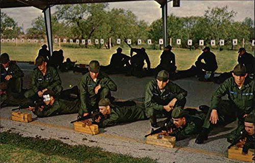 M-16 Rife Training, Lackland Air Force Base San Antonio, Texas Original Vintage Postcard (M16 Base)