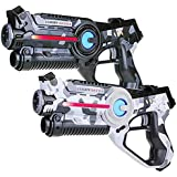 Light Battle Active Laser Tag Game Set for Kids. 2 Laser Game Guns: camo gray and camo white | LBAP10267D
