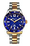 Salvatore Ferragamo Men's FF3280015 FERRAGAMO 1898 Sport Analog Display Swiss Quartz Two Tone Watch