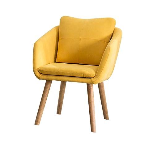 Amazon.com: MMZZ silla de comedor nórdica de madera maciza ...