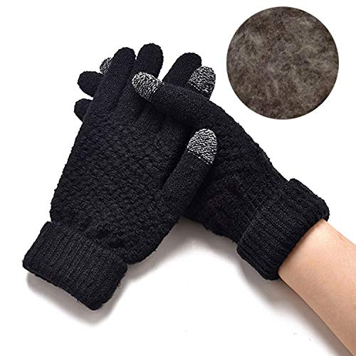 Women Warm Winter Knitted Full Finger Gloves Mittens, used for sale  Delivered anywhere in USA