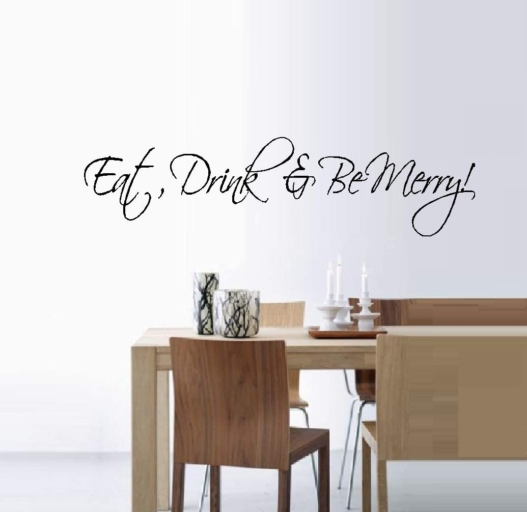 Eat Drink And Be Merry Wall Sticker Quote Mural Decal Lettering Vinyl