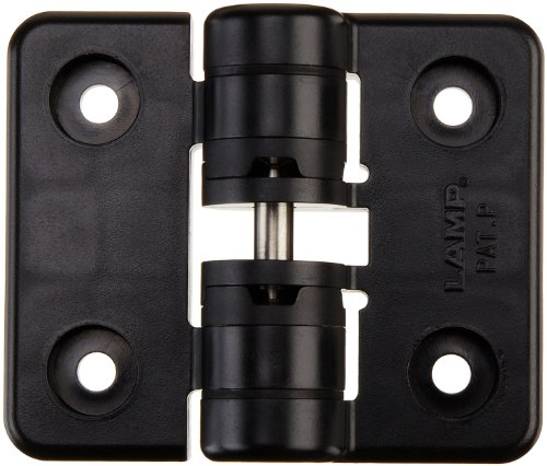 Sugatsune HG-YJ50BL Polyacetal Detent Hinge with Holes, 50mm Leaf Height, 60mm Open Width, 5 lbs inch Torque, Black