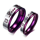 YD Jewels - Elegant Purple Stainless Steel Couples Review and Comparison