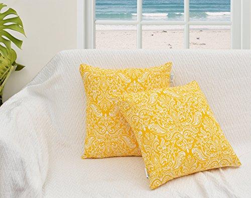 Value Homezz, Throw Pillowcases Damask Design 100% Cotton Pr