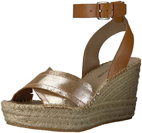 Donald J Pliner Women's INES Espadrille Wedge Sandal, Silver, 7.5 Medium US Donald J Pliner Ankle Strap Platforms
