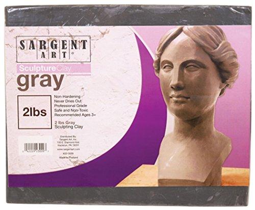 Sargent Art 22-3009 Sculpture Clay Gray 2 Lb from Sargent Art